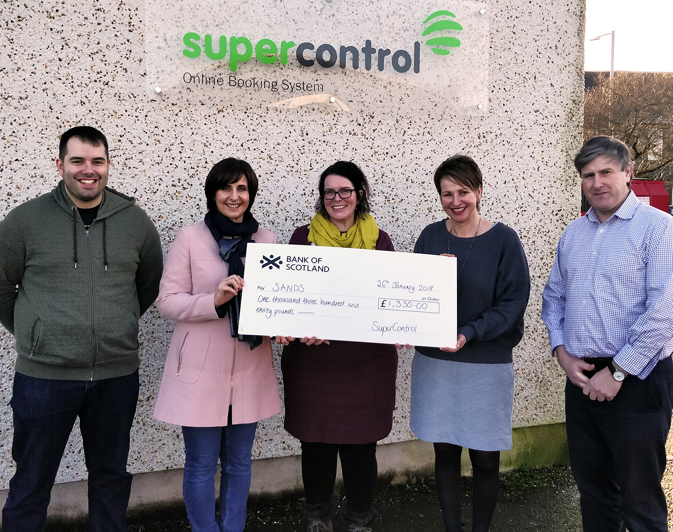 SuperControl Raises £1,330 for Sands – Stillbirth and neonatal death charity